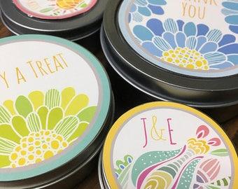 50 Round Product Labels, Round Stickers, Custom Round Stickers, Favor Labels, baby shower favor label, Personalized Wedding