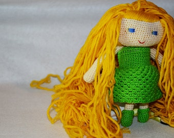 Amigurumi doll plush - toys for children - soft doll in cotton and wool