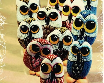 Owls naif 3 pieces