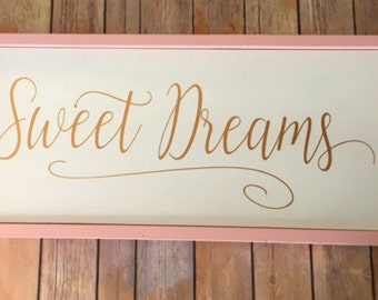 Sweet Dreams Nursery Decor - Wood Sign