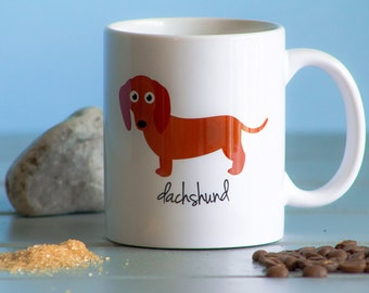 Dachshund Mug (red)