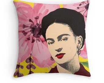 Decorative Throw Cover, Frida Kahlo throw cushion, home decor, Cushion Cover, Frida Kahlo Pillow, Frida Kahlo Art, Mexico