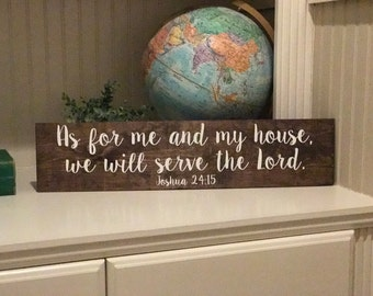 As for me and my house, we will serve the Lord sign, handmade wood sign