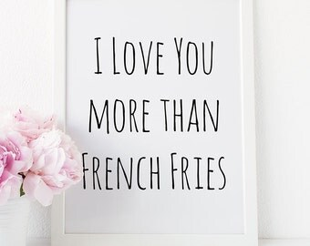 Love You More Wall Art french love print | etsy