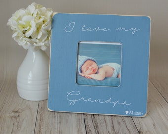 Grandpa picture frame, custom picture frame, grandpa gift, father's day gift, personalized picture frame, kid's picture frame