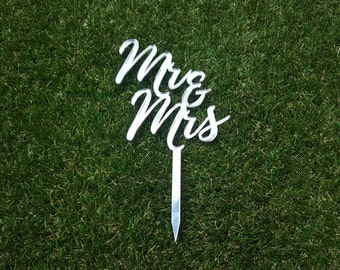 "Personalised ""Mr & Mrs"" Cake Topper"