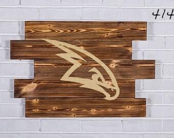 Atlanta Hawks Wood Sign Atlanta Hawks Wall art Atlanta Hawks Gift Atlanta Hawks Birthday Atlanta Hawks Party wooden
