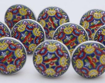 Colorful Ceramic Knobs Ceramic Door Knobs Kitchen Cabinet Drawer Pulls