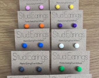 Lego Stud Earings (Real Lego!)