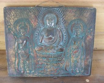 Metal Buddha Zen Wall Art Buddhist Decor