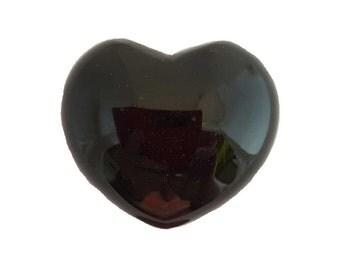 """Black Obsidian Heart ~ 1 3/4"""""""