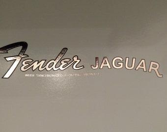 Fender Jaguar in Silver metallic Foil Waterslide