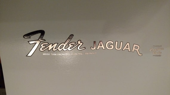 Fender Jaguar in Silver metallic Foil Waterslide