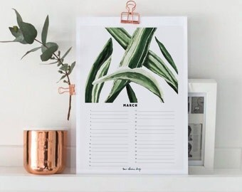 Birthday Calendar - Month MARCH - Perpetual - Instant Download