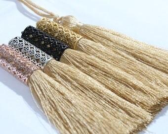 Beige Cone Cap Tassels, 8cm,Cap Tassels, Thread Tassels, SKU/RSL13