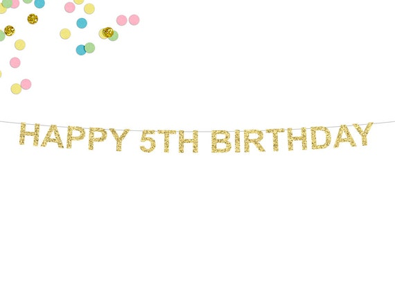 Happy 5th Birthday Banner | www.imgkid.com - The Image Kid ...