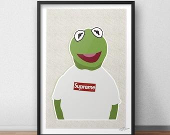 Kermit Supreme INSPIRED Print / Poster