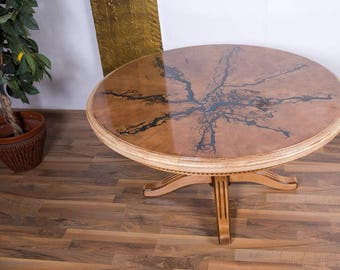 Table wood living room *Glows in the dark*