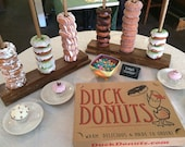 Custom Wedding Donut Stand - Holds 10- 50 Donuts.  The Perfect Donut Stand for Weddings!