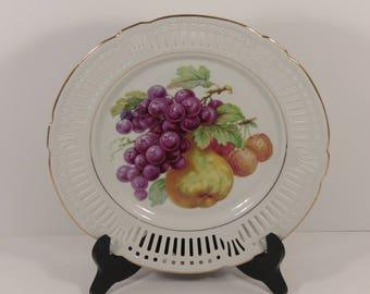 Porzellan Imperial Germany Bavaria Schumann & Schreider Dresden Style Reticulated Plate