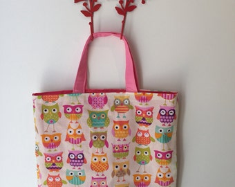 Sweet Owl Library Bag