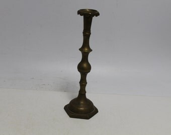 Antique Old Bronze Candle Stick, Holder