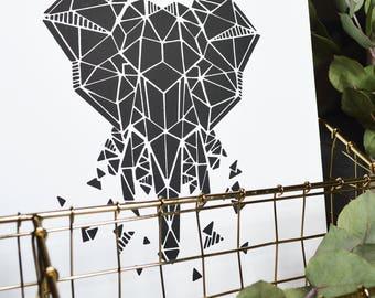 Poster print 21x30cm - Elephant Zoorigami