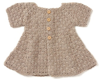 Organic Cotton Shell Coat Hand-Knitted