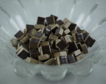 1cm x 1cm Brown Mosaic Tiles DIY
