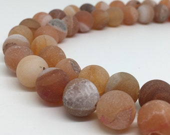 1Full Strand 10mm Agate Round Beads, Wholesale Agate Gemstone Beads For Jewelry Making