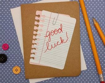 Good Luck, Good Luck card, Card for students, Good Luck on Exam card