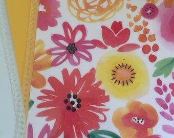 Floral cover for Erin Condren or Recollections planner