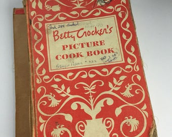 Betty Crocker's Picture Cookbook - Betty Crocker Cookbook 1950 - First Edition - 1950s Cookbook - Vintage Kitchen - Recipe Book