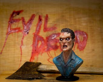 Evil dead / figure / bust / Ash Figure movie / Miniature / Evil Dead / Army of Darkness / character bust