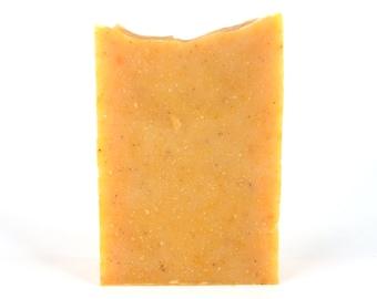 "Papaya Soap, Goat's Milk Soap, All Natural Papaya Soap, Mango Butter Soap, Enzyme Soap, Organic Soap, ""Papaya & Goat's Milk Enzyme"""