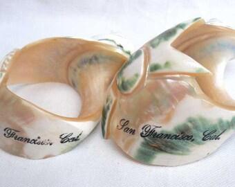 Souvenir Ware Carved Shell San Francisco Vintage
