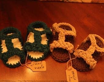 Crochet baby girl sandals (0-12 months)