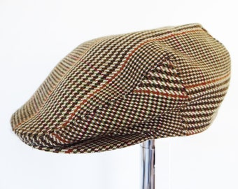Vintage Flat Cap, Newsboy Cap, Mens Hat, Cap, Tweed Cap, Vintage Man, Accessories, Hunting, Tweed, Country, Men, Hat, Flat Hat