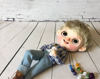 RESERVED for Michelle - Spot, OOAK Boy Blythe Doll
