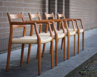 JL Moller Model 67 Armchairs (Four Total)