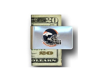 Denver Broncos NFL Helmet Money Clip