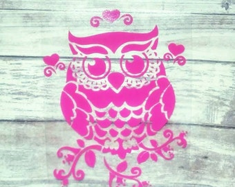 Owl Vinyl Decal, Yeti Decal for Women, Car Accessories, Laptop Decal, Window Sticker, Yeti Cup Decal, Owl Sticker, Owl Yeti Decal, Car Decal