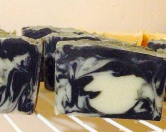 Activated Charcoal and Kaolin Clay Goats Milk. All natural handmade cold process. Pamper your skin :)