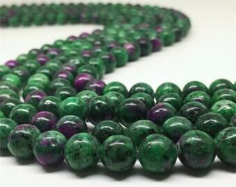 10mm Ruby Zoisite Beads,Round Beads,Gemstone Beads,Wholesale Beads