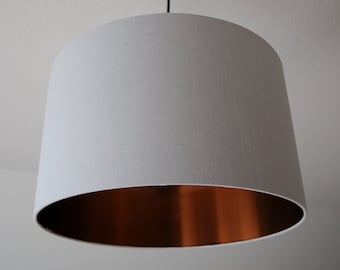 "Lampshade ""Light gray-copper"""