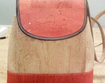 Handmade backpack for women,portuguese natural cork.
