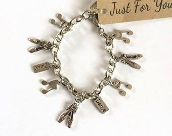 Dance Teacher Ballet Gift Charm Bracelet