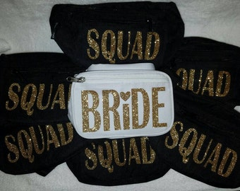 Bride and Squad Fanny Packs