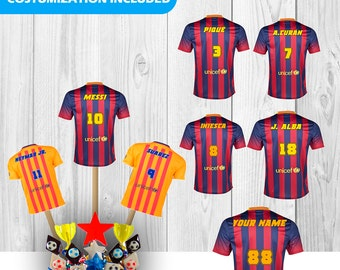 42 FC Barcelona T-Shirts  Centerpieces  download Instantaneous, printable, high quality, PDF file.