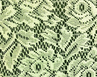 "Cream lace, 1 yard, 60"" wide"